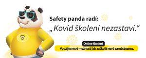 safety panda radí - kovid školení nezastaví.